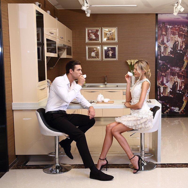 Z003 Love in Milan - Beige Modern Kitchen U Shape
