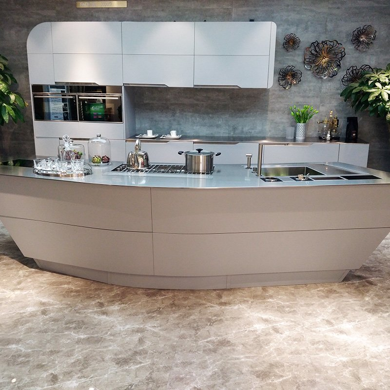 X009 The Ark - 2017 New Design Island Kitchen 8mm thick Countertop