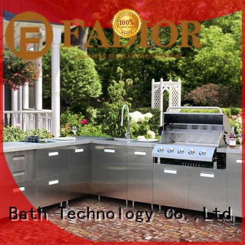 Wholesale luxury vienna metal kitchen cabinets Fadior Stainless Steel Kitchen Cabinets Brand