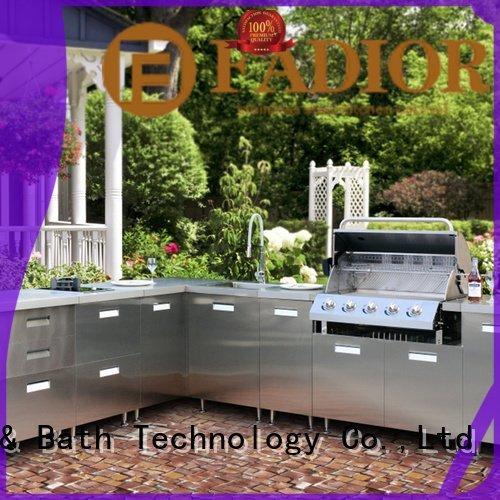 Fadior Stainless Steel Kitchen Cabinets italian metal kitchen cabinets european column