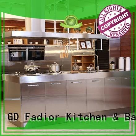 marilyn kitchen metal kitchen cabinets oak 304 steel Fadior Stainless Steel Kitchen Cabinets company