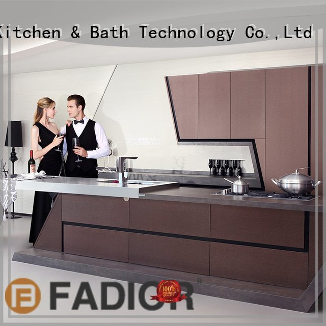 Wholesale party ash metal kitchen cabinets Fadior Stainless Steel Kitchen Cabinets Brand