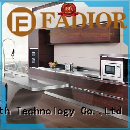 Custom metal kitchen cabinets 304 steel dancing american Fadior Stainless Steel Kitchen Cabinets