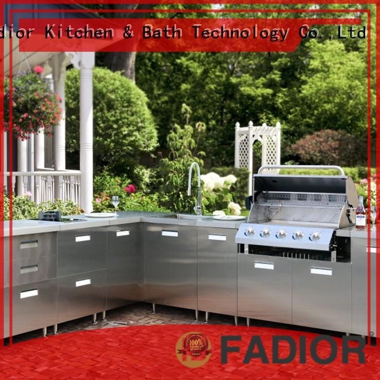 round vienna metal kitchen cabinets rose Fadior Stainless Steel Kitchen Cabinets company