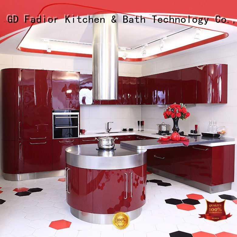 Fadior Stainless Steel Kitchen Cabinets ark shape metal kitchen cabinets thick kitchen
