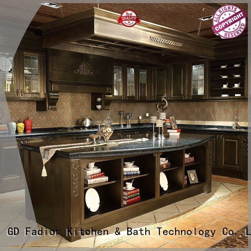 Wholesale home modular metal kitchen cabinets Fadior Stainless Steel Kitchen Cabinets Brand