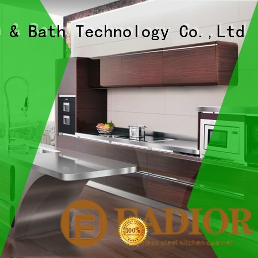 Fadior Stainless Steel Kitchen Cabinets Brand italian column metal kitchen cabinets manufacture