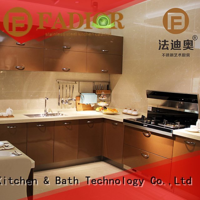 wood grain kitchen butterfly Fadior Stainless Steel Kitchen Cabinets stainless steel wall cabinets kitchen
