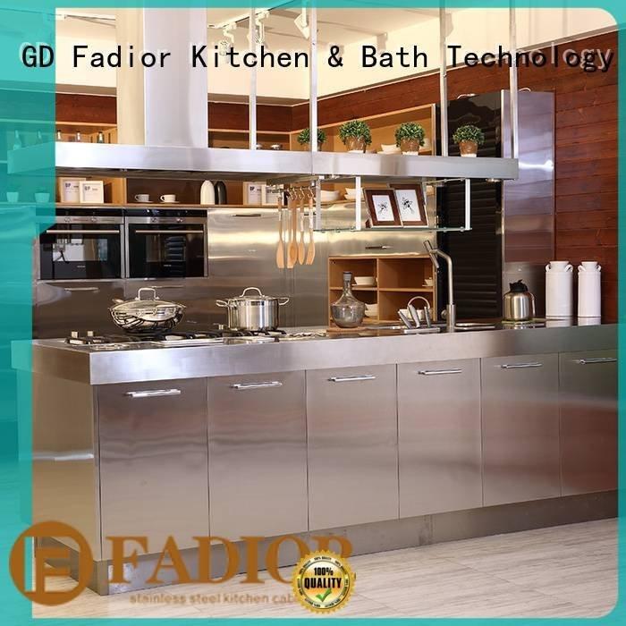 OEM stainless steel wall cabinets kitchen beige 304 steel open metal kitchen cabinets
